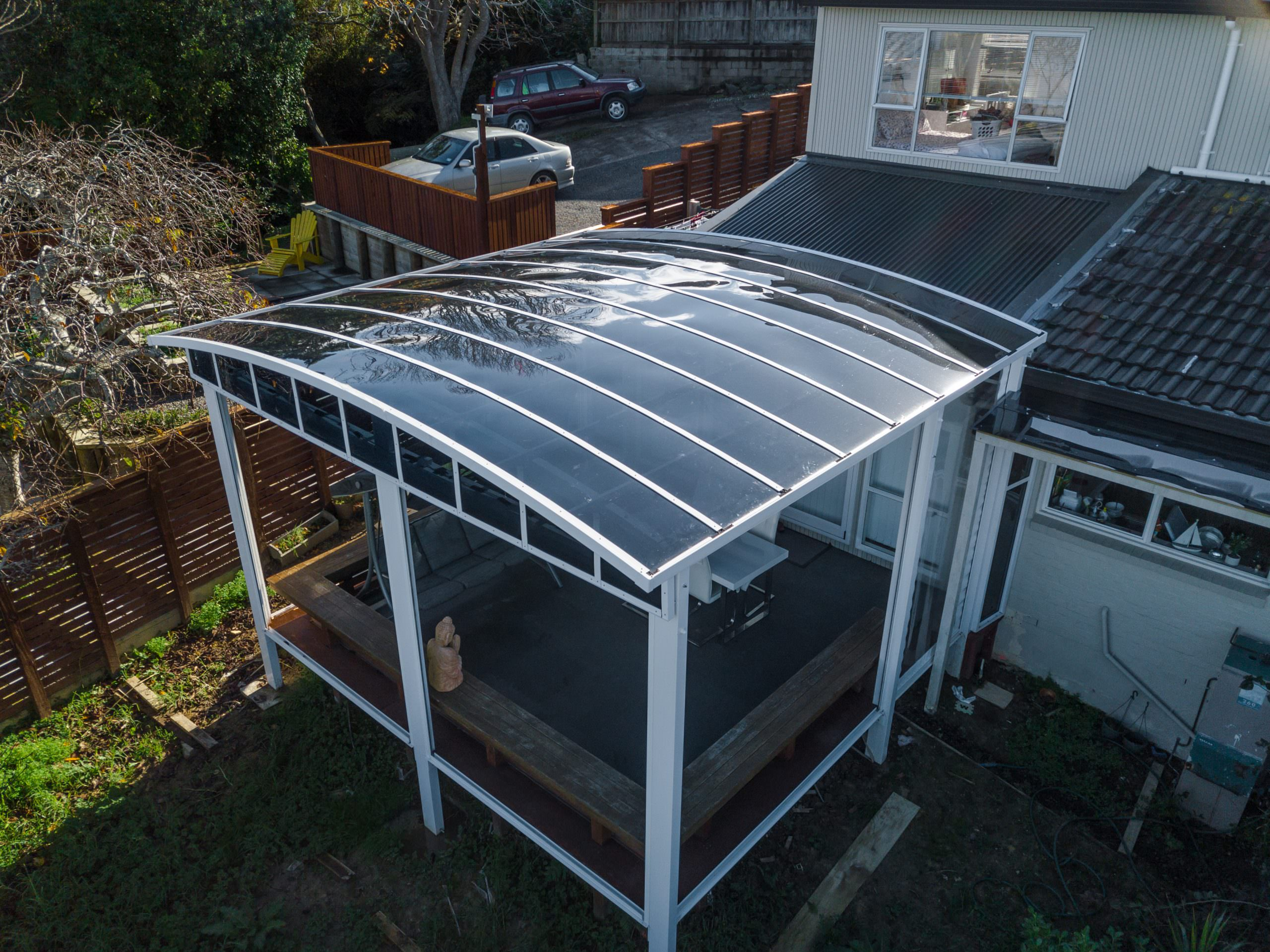 Deck Canopy with Clear Blinds Pic 2